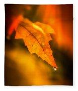Autumn Drops Fleece Blanket