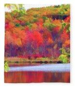 Autumn East Coast I Fleece Blanket