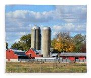 Autumn Elk Farm Fleece Blanket