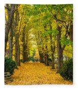 Autumn Entrance 2 Fleece Blanket