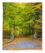 Autumn Entrance 3 Fleece Blanket