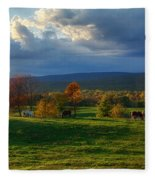 Autumn Evening Fleece Blanket