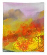 Autumn Expression Fleece Blanket