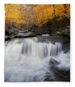 Autumn Falling Square Fleece Blanket