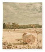 Autumn Farming And Agriculture Landscape Fleece Blanket