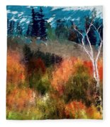 Autumn Feel Fleece Blanket