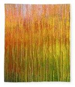 Autumn Fire Abstract Fleece Blanket