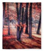 Autumn Firelight Fleece Blanket