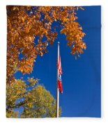 Autumn Flag Fleece Blanket