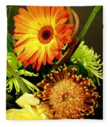 Autumn Flower Arrangement Fleece Blanket