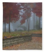 Autumn Fog Fleece Blanket
