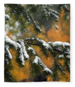 Autumn Foliage Fleece Blanket