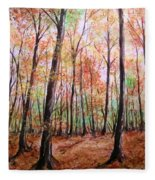 Autumn Forrest Fleece Blanket