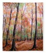 Autumn Forrest Fleece Blanket