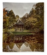 Autumn Gazebo Reflection Fleece Blanket