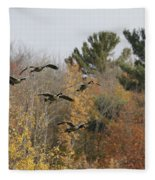 Autumn Geese Fleece Blanket