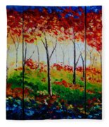 Autumn Glade Fleece Blanket