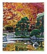 Autumn Glow In Manito Park Fleece Blanket
