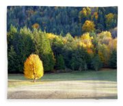 Autumn Gold Fleece Blanket
