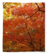 Autumn Gold Poster Fleece Blanket