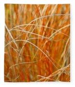 Autumn Grass Abstract Fleece Blanket