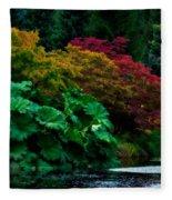 Autumn Has Begun Fleece Blanket