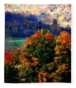 Autumn Hedgerow Fleece Blanket