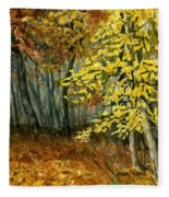 Autumn Hollow I Fleece Blanket