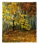 Autumn Hollow II Fleece Blanket
