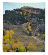 Autumn In Aspen Fleece Blanket