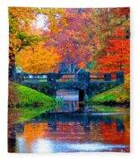 Autumn In Boston Fleece Blanket