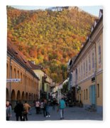 Autumn In Brasov Fleece Blanket