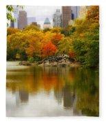 Autumn In Central Park Fleece Blanket