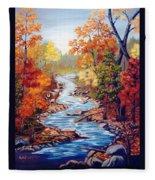 Autumn In Cunningham Park  Fleece Blanket