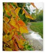 Autumn In Ellenberger Fleece Blanket