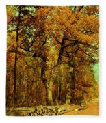Autumn In Forest Fleece Blanket