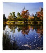 Autumn In Maine Usa Fleece Blanket