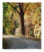 Autumn In Michigan Fleece Blanket