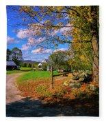 Autumn In Montpelier Fleece Blanket