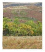 Autumn In Slope County Fleece Blanket