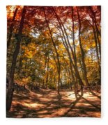 Autumn In The Dunes Fleece Blanket