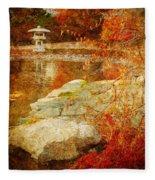 Autumn In The Gardens Fleece Blanket