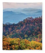 Autumn In The Great Smoky Mountains Fleece Blanket