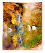 Autumn In The Park Fleece Blanket