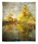Autumn In The Pond Fleece Blanket
