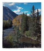 Autumn In The Rockies Fleece Blanket