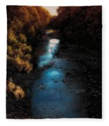 Autumn In The Tributary Fleece Blanket