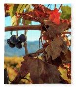 Autumn In The Wine Country Fleece Blanket