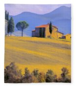 Autumn In Tuscany Fleece Blanket