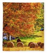 Autumn In West Virginia Fleece Blanket